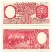 Billete 10 Pesos Moneda Nacional Año 1951 Sin Circular