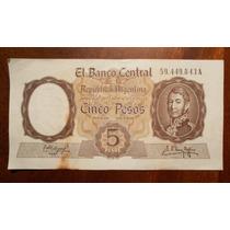 Billete De 5 Pesos Circulado Serie A