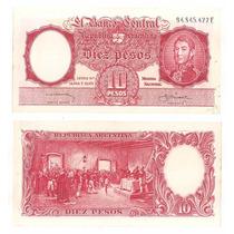 Billete Argentina 10 Pesos M / N 1959 Bot 1962