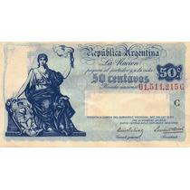 Argentina - Progreso - 50 Centavos - Serie C - En Mendoza