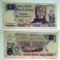 Billete Argentina 5 Pesos