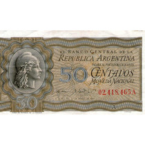 Billete República Argentina Cincuenta Centavos 1947
