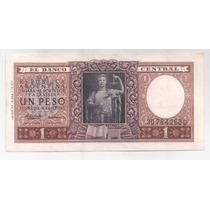 Argentina Billete De 1 Peso Moneda Nacional Bottero 1917 !!