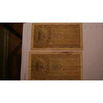 50 Centavos Moneda Nacional Ley 12962 Año 1947 Serie 1.12