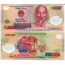 Vietnam Billete 200000 Dong Año 2014 Polimero Plastico Unc