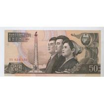 Billete De Corea Del Norte De 50 Won Sin Circular, Oferta!!!