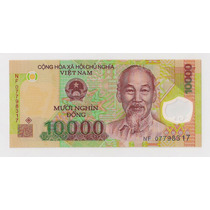 Vietnam Billete Plástico De 10.000 Dong Sin Circular!!!