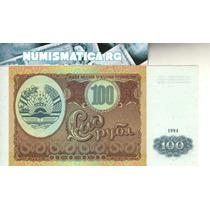 Tajikistán Billete De 100 Rublos 1994 Pick 6a - Sin Circular