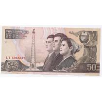 Corea Del Norte, Billete De 50 Won Año 1992 - Pick#42 - Sc
