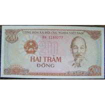 Vietnam 200 Dong 1987 * Tractoy Y Campesinos *