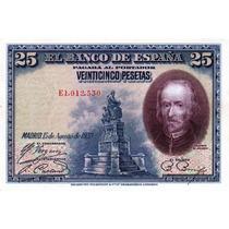 Billete De España - 25 Pesetas - 1928 - En Mza