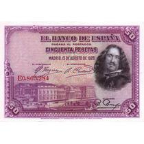 Billete De España - 50 Pesetas - 1928 - En Mza