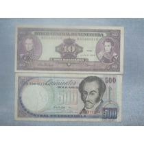 Lote 2 Billetes De Venezuela.
