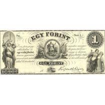 Antiguo Billete De Hungria 1 Forint Año 1852 Sin Circular