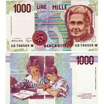 Billete De Italia Año 1990 1.000 Liras Sin Circular