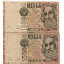 Italia 2 Billet. 1000 Liras Difer.firmas Año1982 Bm 2197