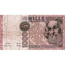 Billete De Italia - 1000 Liras - 1982 - En Mendoza