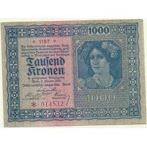 Billete De Austria 1.000 Kronen Año 1922 Sin Circular