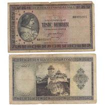 Billete Checoeslovaquia 1000 Coronas Año 1945 Segunda Guerra