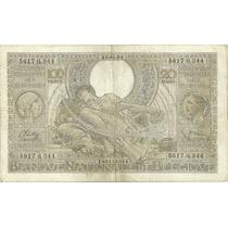 Billete Belgica De 100 Francos Año 1933/43 Muy Bueno-