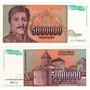 2 Billetes Yugoeslavia 10.000 Y 5.000.000 Dinara Año 1992/3
