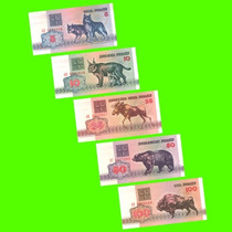 Bielorrusia - Lote / Serie 5 Billetes De 1992 ¡sin Circular!