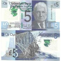 Billete Escocia 5 Libras Plastico Año 2015 Sin Circular