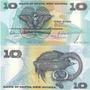 Billete Papua Nueva Guinea 10 Kina Año 1988 Oferta!!!