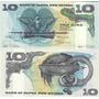 Billete Papua Nueva Guinea 10 Kina Año 1985 Oferta!!!