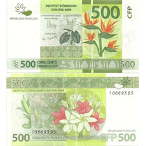 Billete French Pacific Territories 500 Francos Año 2014