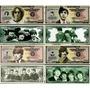 Set De 4 Billetes Orig Un Millon De Dolares De The Beatles