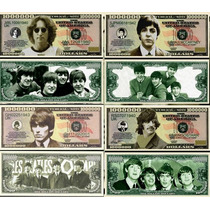 Set De 4 Billetes Orig Un Millon De Dolares De The Beatles