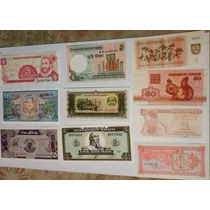 Lote 2: 10 Billetes Extranjeros Sin Circular