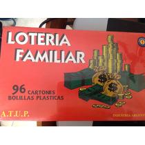 Lotería Familiar 96 Cartones Con Bolillos Plasticas