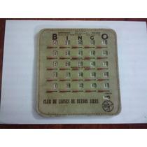 Antiguo Carton De Felpa,bingo Club De Leones De Buenosaires*