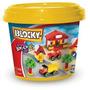Blocky Balde Basico Nº2 Nene 150 Piezas Kidplay