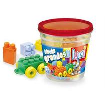 Bloques X36 Ladrillos Grandes Balde Luna Plast / Open-toys71