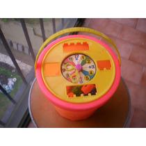 Balde Reloj Infantil Encastre Bloks 50 Piezas (42 + 8 Ruedas