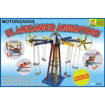 Mecanico Argentino Con 2 Motores T/ Mecano Para Armar Metal