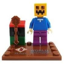 Minecraft Lego Muñeco Punkin Calabaza
