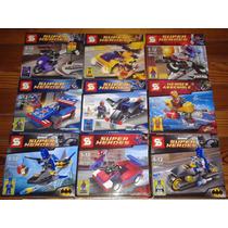 Superheroes Tipo / Simil Lego: Figura Más Vehiculo - Marvel