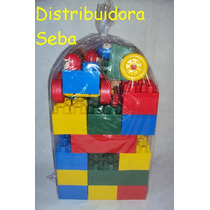 Ladrillos Gigantes Click Ruedas Caritas 40p. Mat. Didactico