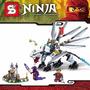 Ninjago Dragon De Titanio Zane Plateado,minifiguras Marca Sy