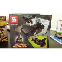 Ladrillos De Superheroes Con Auto Para Armar.