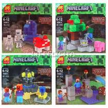Minecraft 4 Packs De Escenarios - Bloques Simil - Legofans