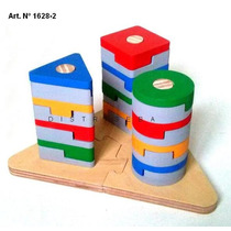 Ensartado Autocorrector Geométrico Juego Didáctico