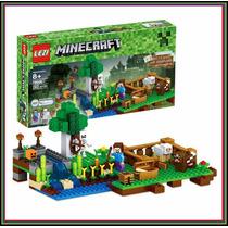 Set Minecraft La Granja 262 Piezas + 4 Pers