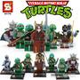 Las Tortugas Ninjas Coleccion X8 Minifiguras Sy Nuevo
