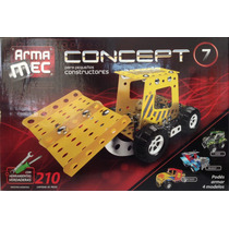 Armamec Concept Tipo Mecano 210 Piezas C/herramientas