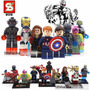 Minifig - Superheroes Vengadores - Set X8 - Simil - Legofans